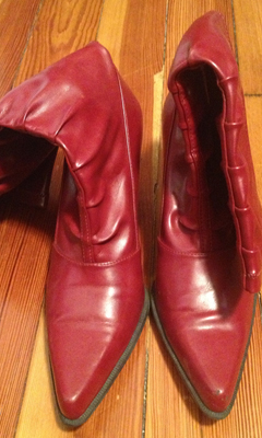 Pleather Knee Boot