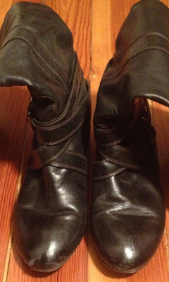 Knee High Boot with Kitten Heel