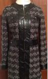 Tweed Snakeskin Trimmed Car Coat