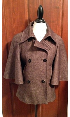 Double Breasted Bell Sleeve Peacoat