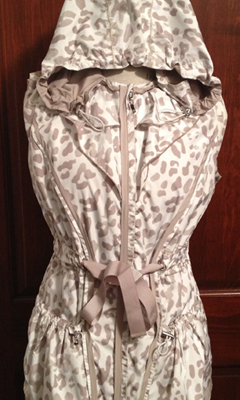 Cheetah Print/Tan Reversible Drawstring Hooded Vest