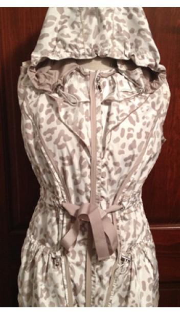 Cheetah Print/Tan Reversible Drawstring Hooded Vest