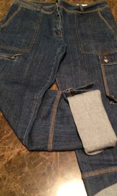 Cargo Jeans with Adjustable Cuffs