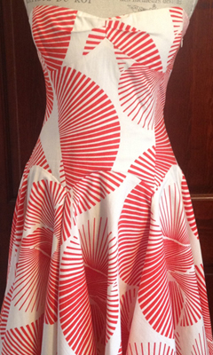 Strapless Swirl Pattern Dress