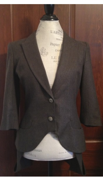 3/4 Sleeve Blazer with Tails