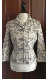 Paisley Print Jacket with Rhinestone Buttons