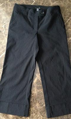 Cropped Cuffed Pants