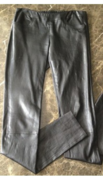 Stretch Leather Pants