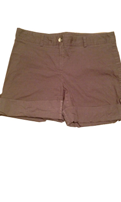 Cuffed Shorts with Button Detail