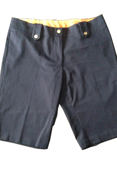 Long Shorts with Gold Button Detailing