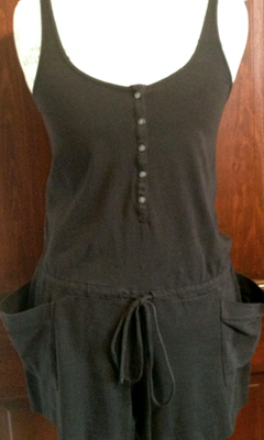 Tank Top Button-Up Romper