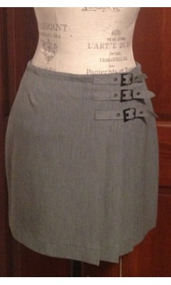 Kilt Style Skirt with 3 Buckle Detailing
