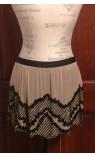Sheer Beaded Mini Skirt