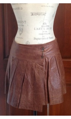 Leather Kilt with Safety Pin Closure