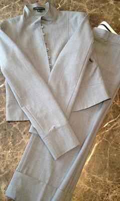 Capri Suit with Mandarin Collar Jacket