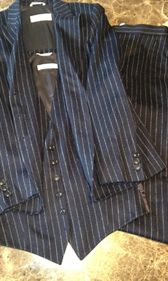 3 Piece Pinstripe Wool Suit