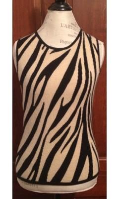 Cashmere Zebra Print Vest