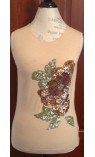 Sleeveless Shirt with Floral Sequined Embellishment